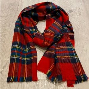 Abercrombie Red Plaid Scarf